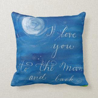 Almohada dulce - te amo a la luna y a la parte