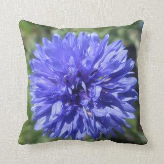 Almohada - el botón del soltero azul del Cornflowe