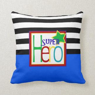 Almohada el | del superhéroe azul, negro, rojo,