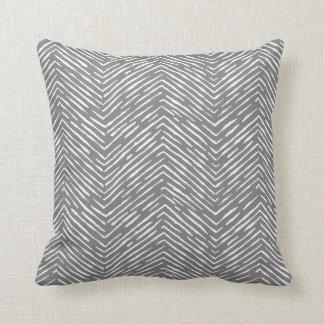 Almohada elegante blanca grisácea de la onda