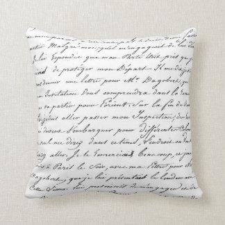 Almohada elegante de la escritura de la escritura