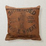 Almohada elegante industrial del cajón de madera d