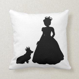 Almohada Elizabeth II de la silueta de la reina y