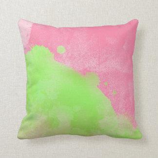 Almohada en colores pastel de la decoración de la