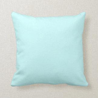 Almohada en colores pastel suave sólida de los azu