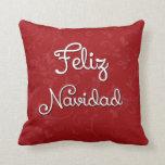 Almohada española del navidad de Feliz Navidad