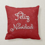 Almohada española del navidad de Feliz Navidad Cojín Decorativo