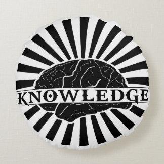 """Almohada """"estallada"""" del conocimiento cojín redondo"""
