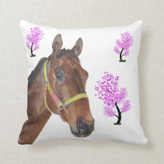 Almohada excelente ecuestre linda del caballo