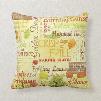 Almohada feliz del algodón de la temporada de
