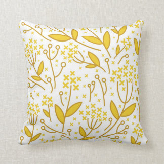 Almohada floral abstracta