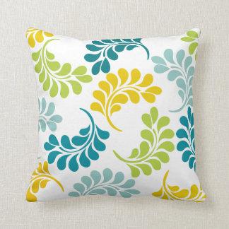 Almohada floral amarilla verde del trullo