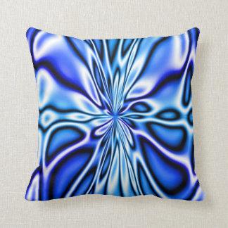 Almohada floral azul de Mojo de la floración del f