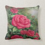 Almohada floral color de rosa