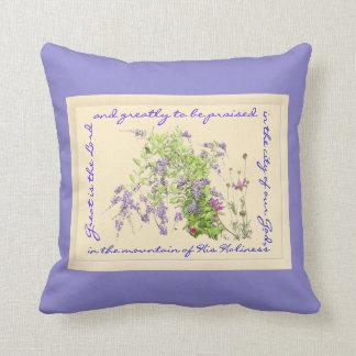 Almohada floral de la canción de la alabanza