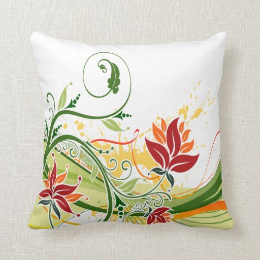 Almohada floral de la moda 1