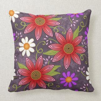 Almohada floral de la primavera rústica