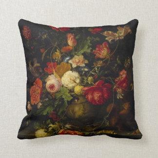 Almohada floral del arte elegante del vintage