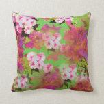 Almohada floral del rosa y del verde
