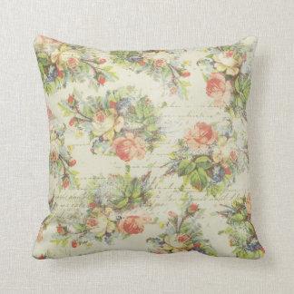 Almohada floral elegante de la cabaña