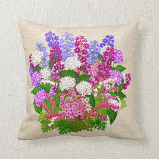 Almohada floral inglesa del jardín