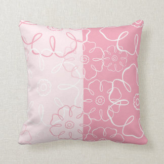 Almohada floral rosada del americano MOJO