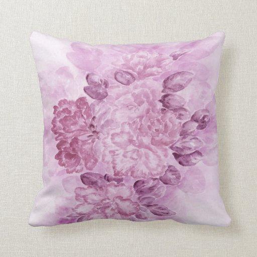 Almohada floral violeta