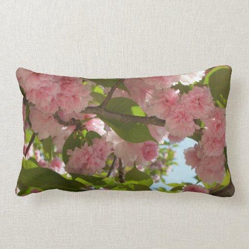 Almohada floreciente doble del cerezo