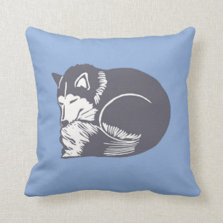 Almohada fornida del azul del perro el dormir