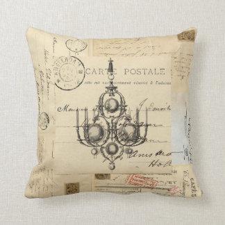 Almohada francesa de las postales de la lámpara cojín decorativo