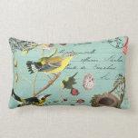 Almohada francesa de los pájaros del vintage