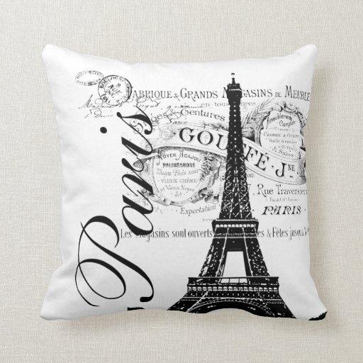Almohada francesa del ejemplo de la torre Eiffel d