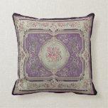Almohada francesa del panel de la tela del vintage
