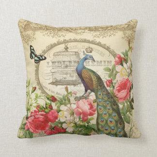 Almohada francesa del pavo real del vintage cojín decorativo