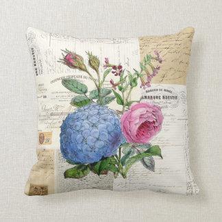 Almohada francesa floral del vintage