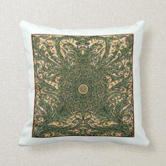 Almohada frondosa de la decoración del modelo de