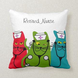 "Almohada ""gatos gordos "" del retiro de la enfermer"