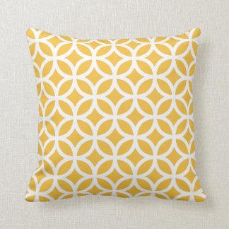 Almohada geométrica amarilla solar del modelo