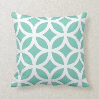 Almohada geométrica del modelo en turquesa cojín decorativo