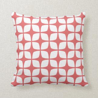 Almohada geométrica moderna en el rojo de Pimienta