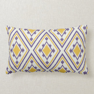 Almohada geométrica púrpura amarilla elegante mode