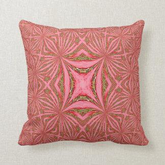 Almohada geométrica roja de MoJo del americano