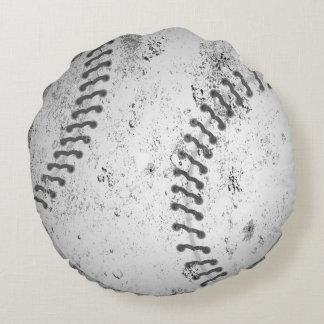 Almohada grande del béisbol del Grunge Cojín Redondo