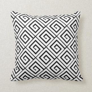 Almohada griega blanca de los espirales