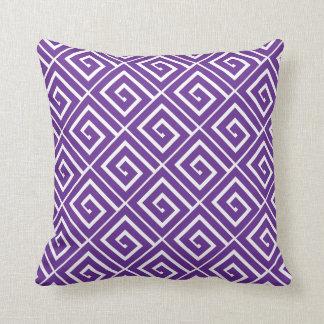 Almohada griega púrpura de los espirales