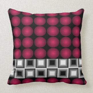 Almohada gris 4A del negro del rojo de vino de la