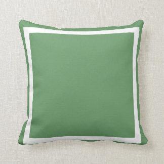almohada gris sólida del llano del verde azul