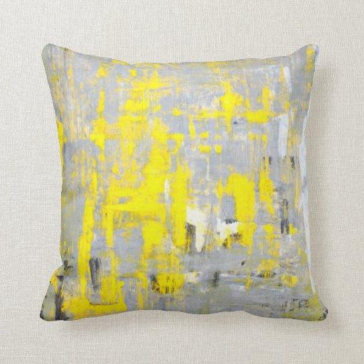 """Almohada gris y amarilla de la """"imaginación"""" del"""