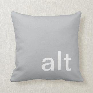 almohada, gris y blanco del botón del alt cojín decorativo