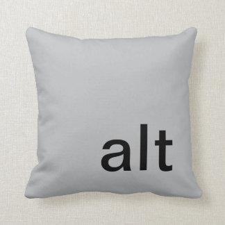 almohada, gris y negro del botón del alt cojín decorativo